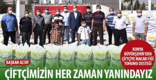 Konya Büyükşehir'den Çiftçiye Macar Fiği Tohumu Desteği