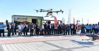 Balıkesirde  Drone İle İlaçlama Dönemi