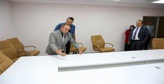 Vali Pehlivan, Yeni Hizmet Binasında İncelemelerde Bulundu