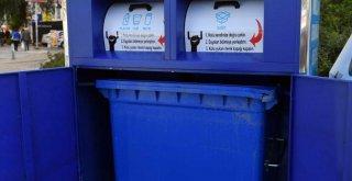 Ambalaj atıkları için geri dönüşüm konteynerleri yerleştiriliyor