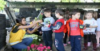 Çocuklardan Büyükşehir Fidanlığına Ziyaret