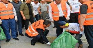 Başkan Çetin Çevre Gönüllüleriyle Beraber Çöp Topladı