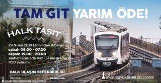 """İzmirde """"Halk Taşıt"""" Uygulaması 29 Nisandan İtibaren Başlıyor"""