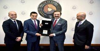 Tisk Başkanı Akkoldan Hisarcıklıoğluna Ziyaret