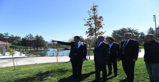 Başkan Asya, İl Başkanı Yaktıya Göletli Parkı Tanıttı