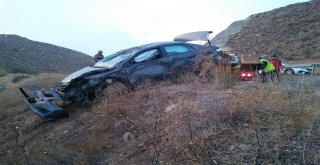 Sivasta Otomobil Şarampole Uçtu: 6 Yaralı