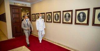 Güney Deniz Saha Komutanı Yıldız, Başkan Soyer'i ziyaret etti