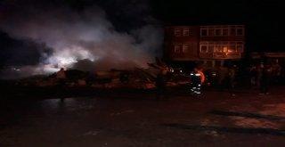 Trabzonda Marangoz Dükkanında Yangın