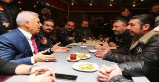 Bozbey Dostlar Buluşmasında Motosiklet Tutkunlarını Dinledi