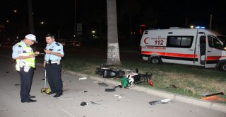 Hatayda Elektrikli Bisiklet İle Otomobil Çarpıştı: 1 Yaralı