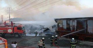 Kahramanmaraşta Tekstil Fabrikasında Yangın