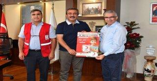 Başkan Çetinden Türk Kızılayına Kurban Bağışı
