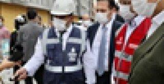 HARAMİDERE'DE İNCELEMELERDE BULUNAN İMAMOĞLU: 'ÇÖZÜM BİZDE'