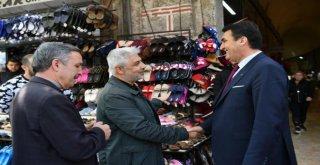 Başkan Dündardan Çarşı Esnafına Teşekkür Ziyareti