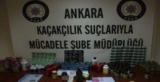 Ankarada 678 Bin Adet Kaçak Vitamin Hapı Ve Kişisel Bakım Ürünü Ele Geçirildi