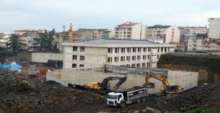Trabzonda Cudibey Ortaokulu Ve Öğretmenevi İnşaatı Hızla İlerliyor