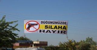 Şanlıurfada Düğünde Silaha Hayır Kampanyası