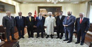 Diyanet İşleri Başkanı Erbaş, 5 İlin Yeni Müftüsünü Kabul Etti