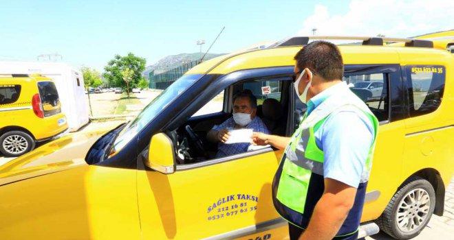 Büyükşehirden Taksi ve ÖTTA'lara Maske