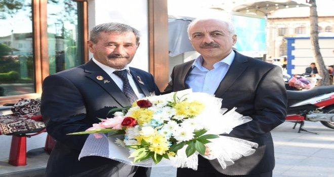Başkan Gül Gaziler Derneğini Ziyaret Etti