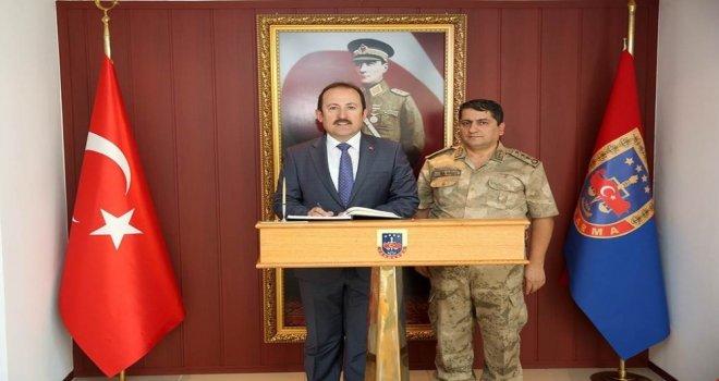Vali Pehlivan, İl Jandarma Komutanı Bilgiçi Ziyaret Etti
