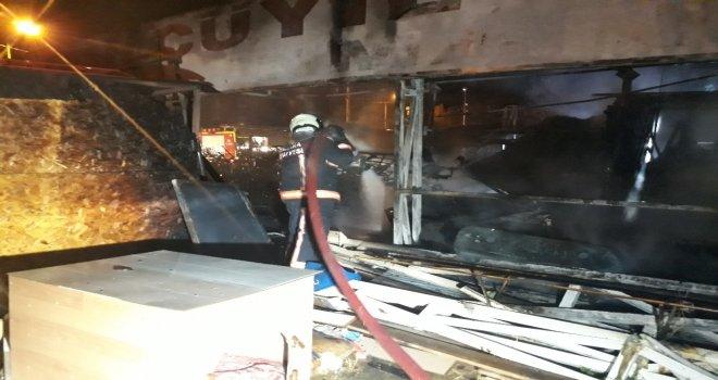 Benzinlik Yanındaki Barakada Korkutan Yangın