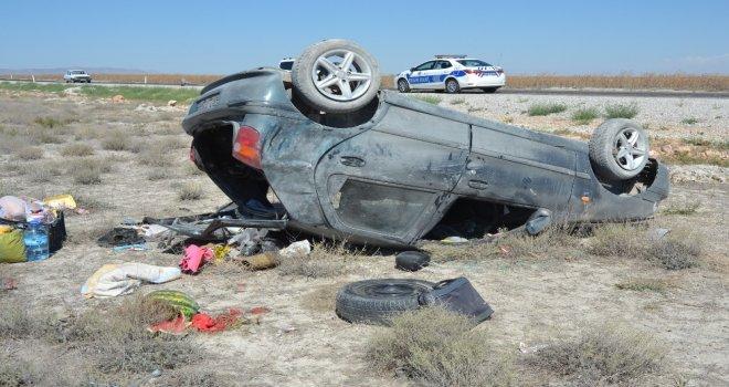 Karamanda Otomobil Takla Attı: 7 Yaralı