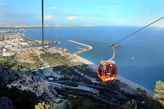 Antalyada Teleferik Projesi Cazibe Merkezi Oldu