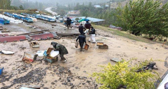 Şırnakta Aşırı Yağış Toprak Kaymasına Neden Oldu