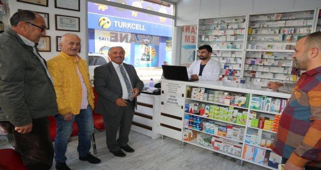 Başkan Özkan Esnaf Ziyaretlerine Devam Ediyor