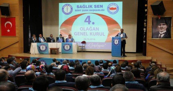 Sağlık-Sen Genel Başkanı Memiş, Siirt Şubesi Kongresine Katıldı