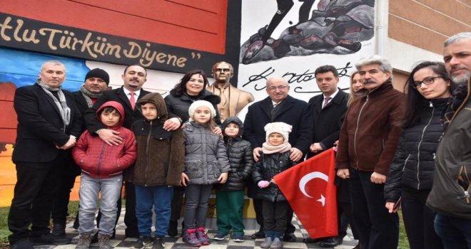 Çorluda Atatürk Büstü Açılışı Gerçekleşti