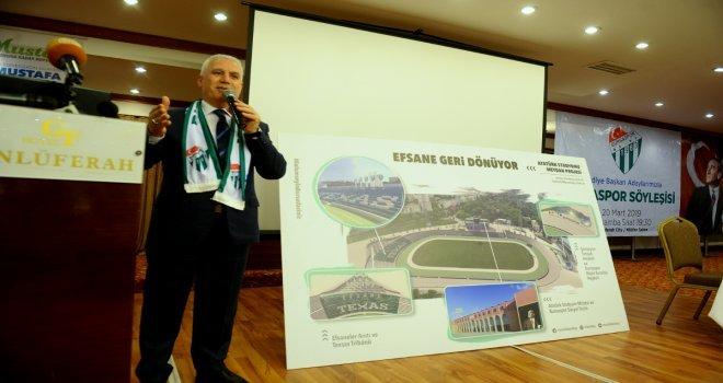 Bozbey: Bursaspor, Atatürk Stadında Yaşatılacak