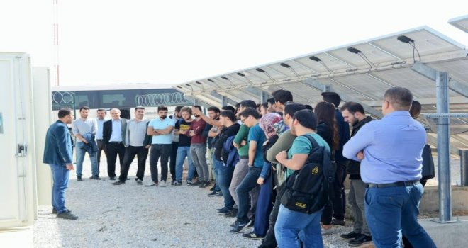 Kmü Mühendislik Fakültesi Öğrencileri Güneş Santralini İnceledi
