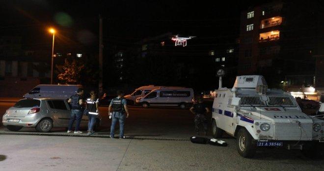 Diyarbakırda 500 Polisle Droneli Uygulama
