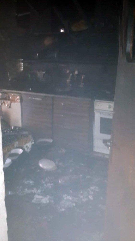 Ispartada Korkutan Ev Yangını