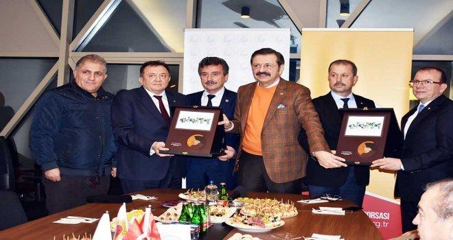 Tobb Başkanı  Yenişehiri Ziyaret  Etti