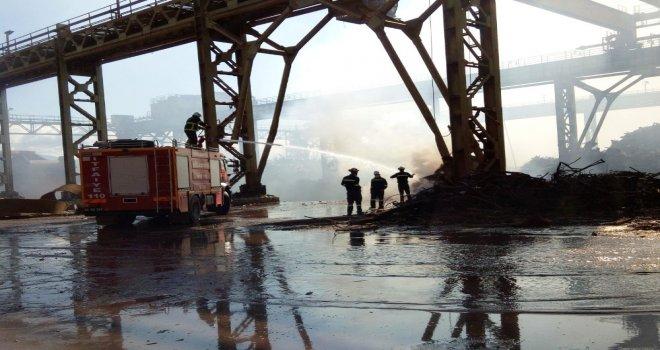 Demir Çelik Fabrikasında Hurda Yangını