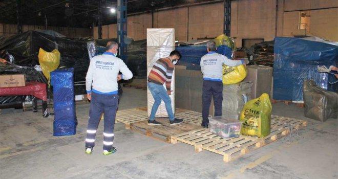 219 depremzedeye ücretsiz eşya depolama hizmeti