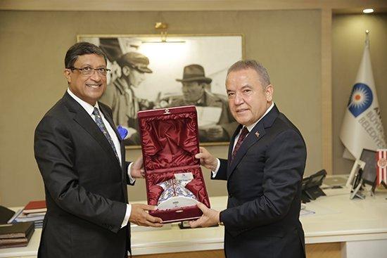 Hindistanın Ankara Büyükelçisi Başkan Böceki Ziyaret Etti