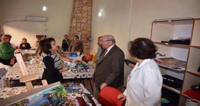 Başkan Kadir Albayraktan Temek Kursiyerlerine Ziyaret
