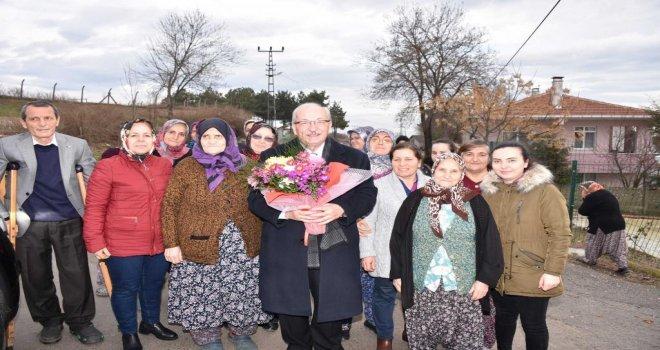 Başkan Kadir Albayraka Vatandaşlardan Sevgi Seli