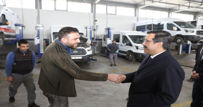 Başkan Atilladan Otomotiv Firmalarına Ziyaret