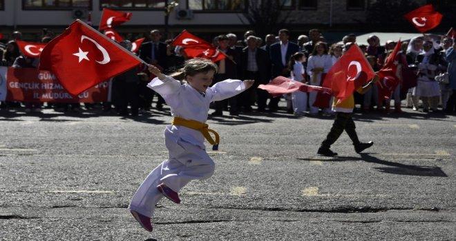Gümüşhanede Cumhuriyet Bayramına Coşkulu Kutlama