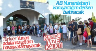 Yunan adalarına kapıda vize sona eriyor